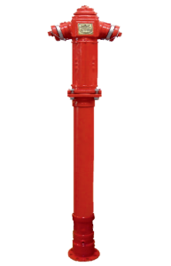 Pillar type fire hydrant double closing breakage protected - Art 8003