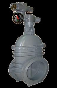 Saracinesche metalliche pn 16 corpo piatto con attuatore elettrico - Art 2909