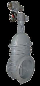Saracinesche metalliche pn 16 corpo piatto con attuatore elettrico - Art 2910