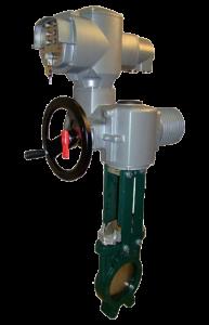 Valvola a ghigliottina unidirezionale con attuatore elettrico - Art 2904