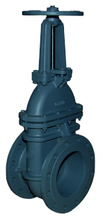 Metal Seated Gate Valves pn 16 flat body with electric actuator - Art 2909